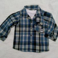 Camisa xadrez - 9 a 12 meses - Tip Top