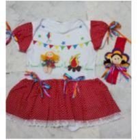Vestido junino - 9 a 12 meses - Artesanal