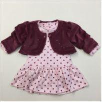 Vestido com bolero - 6 a 9 meses - Baby fashion