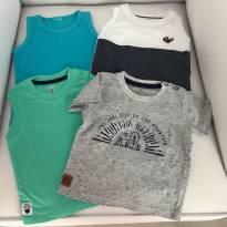 Lote camisetas - 3 a 6 meses - Diversas