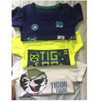 Lote Camisetas Tigor Tigre - 2 anos - Tigor T.  Tigre