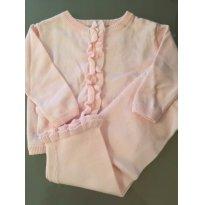 INVERNO: Conjunto de tricot lindo rosa - 3 a 6 meses - Wendy bellissimo