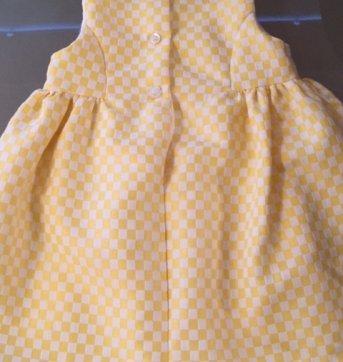 Vestido 1 Mais 1  -  Amarelo - 1 ano - 1+1