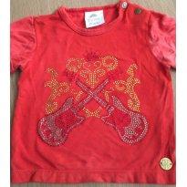 Camiseta Super Fashion Paola da Vinci - 6 a 9 meses - Paola Da Vinci