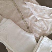 Conjuntinho Zara ( Off White e Dourado ) - 12 a 18 meses - Zara