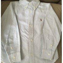 Camisa Listrada Azul Ralph Lauren - 4 anos - Ralph Lauren