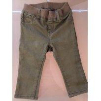 Calça Jeans - VERDE MUSGO Gap - 9 a 12 meses - GAP