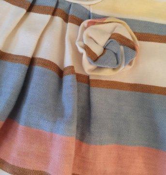 Vestido De Linho da Zara Listrado - 12 a 18 meses - Zara