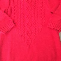 Vestido Tricot Vermelho - GAP - 9 meses - GAP