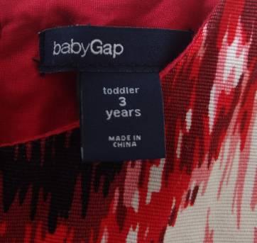 Vestido vermelho estampado com rosas BABY GAP - 3 anos - Baby Gap