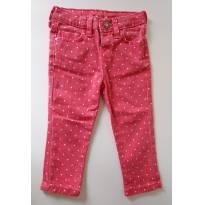 Calça jeans vermelha com bolinhas brancas ZARA BABY - 12 a 18 meses - Zara Baby