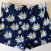 Short - saia azul etampa de margaridas ISABELA CAPETO - 18 meses - Isabela Capeto