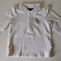 Camiseta polo bege manga longa  RALPH LAUREN - 18 meses - Ralph Lauren