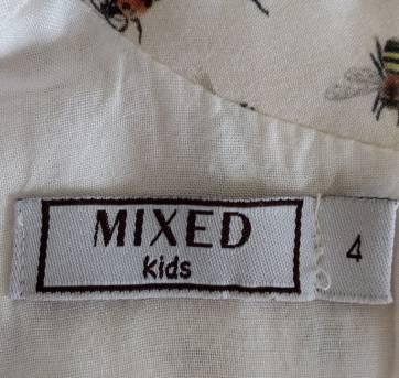 Vestido estampado MIXED KIDS - 4 anos - MIxed Kids