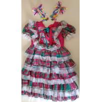 Vestido de quadrilha - 4 anos - Amoreco