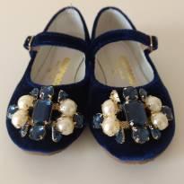 Sapatilha azul marinho Pedrarias Amoreco - 23 - Amoreco
