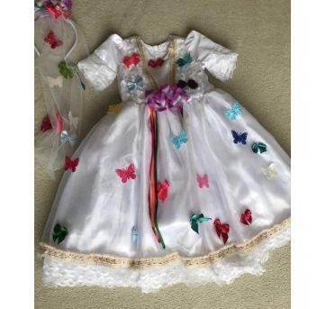FESTA JUNINA: Vestido de Noivinha - 4 anos - Não informada