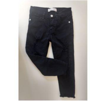Calça jeans Destroyed Preta - ZARA GIRLS - 4 anos - Zara