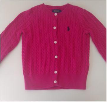 Cardigan rosa Polo Ralph Lauren - 3 anos - Ralph Lauren