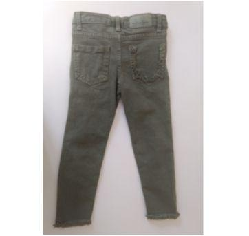 Calça jeans Destroyed Verde Militar - ZARA GIRLS - 4 anos - Zara