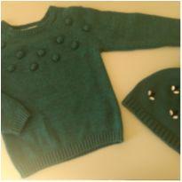 Blusa + touca em tricô Galeries Lafayette - 4 anos - Galeries Lafayette Paris