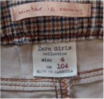 Calça Xadrez ZARA GIRLS - 4 anos - Zara
