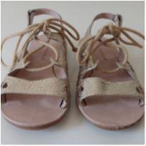 Sandália dourada Zara Girls - 27 - Zara