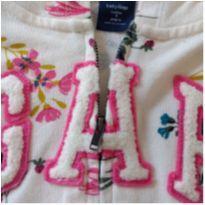 Blusa de moletom com touca BABY GAP - 3 anos - Baby Gap