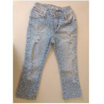 Calça jeans Destroyed estampada  - Mini U.S. - 2 anos - Mini Us