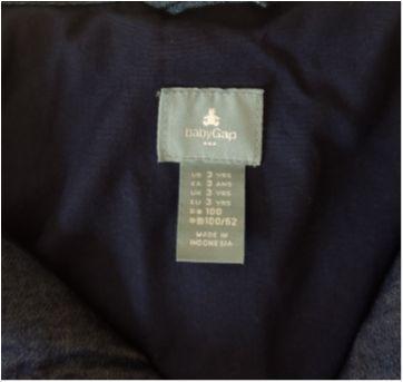 Jaqueta jeans BABY GAP - 3 anos - Baby Gap
