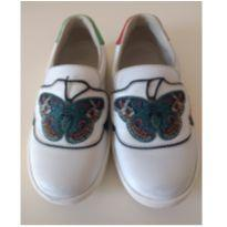 Tênis GUCCI White `Ace` Butterfly - 23 - Gucci