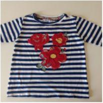 Camisetinha com aplique de flores MIXED KIDS - 2 anos - MIxed Kids
