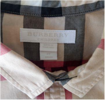 Camisa BURBERRY - 3 anos - Burberry