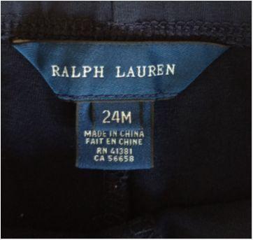 Calça Legging Estilo Montaria RALPH LAUREN - 2 anos - Ralph Lauren