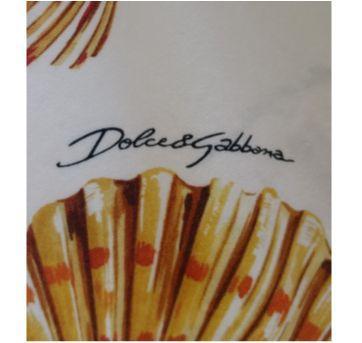 Vestido estampa Beach DOLCE & GABBANA - 4 anos - Dolce & Gabbana Junior
