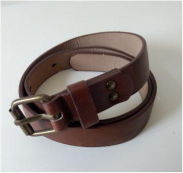 Cinto couro marrom - Sem faixa etaria - Zara