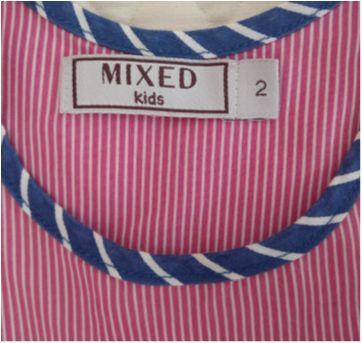 Vestido MIXED KIDS listras e cores - 2 anos - MIxed Kids