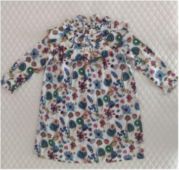 Vestido estampada com babados MIXED KIDS - 4 anos - MIxed Kids