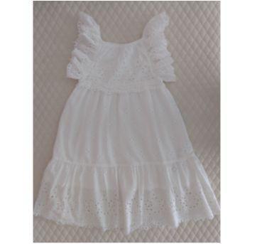 Vestido Laise Branco ZARA GIRLS - 5 anos - Zara