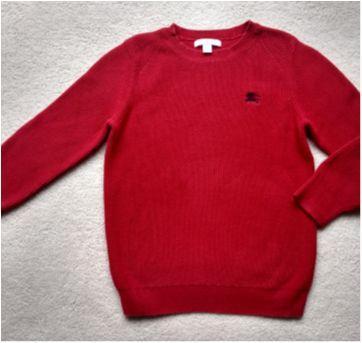 Suéter vermelho BURBERRY - 8 anos - Burberry