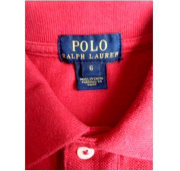 "Camiseta Polo Ralph Lauren Vermelha com MONOGRAMA ""JGC"" - 6 anos - Ralph Lauren"