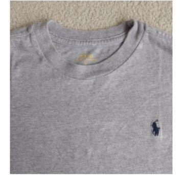 Camiseta  POLO RALPH LAUREN  cinza - 7 anos - Ralph Lauren
