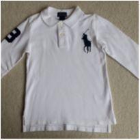 Camiseta  POLO RALPH LAUREN branca manga longa - 5 anos - Ralph Lauren
