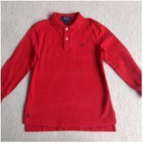 "Camiseta  POLO RALPH LAUREN vermelha manga longa com MONOGRAMA ""JGC"" - 5 anos - Ralph Lauren"