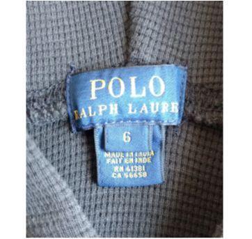 Blusa com touca POLO RALPH LAUREN - 6 anos - Ralph Lauren