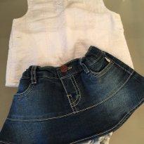 PRIMAVERA: Conjunto Fofo ! Saia Puc e Blusa Zara - 6 a 9 meses - Zara e PUC