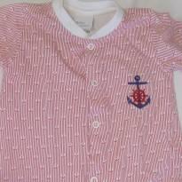Macacão Marinheiro Vermelho - 0 a 3 meses - Baby fashion