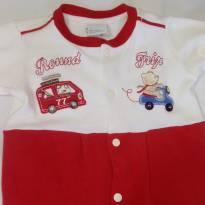 Macacão Vermelho - 0 a 3 meses - Baby fashion