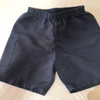 Shorts de Tactel Azul Marinho - 9 a 12 meses - Boca Grande