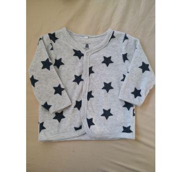 Casaco de plush com Estrelas - 9 a 12 meses - Baby Club